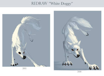 Redraw White Doggy by Kipine
