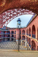Fort Point lighthouse and bridge by PaulWeber
