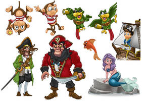 Pirate Characters by Npr1977