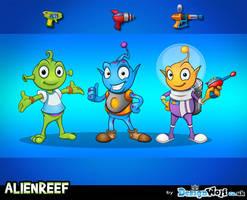 Alien Reef Characters by Npr1977