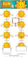Sun Character - Set 1 by Npr1977