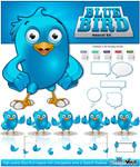 Blue Bird Mascot Kit by Npr1977