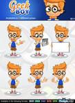 Geek Boy Mascot Character by Npr1977