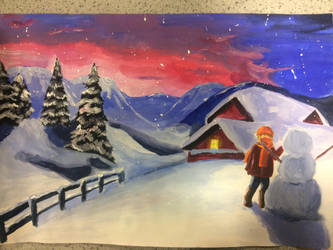 Winter/Really Cold Place Scene by BattingButter