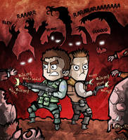 Resident Evil 6 - Chris and Piers by Hanogan