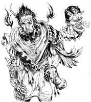 Demon Samurai and Head by gmoshiro