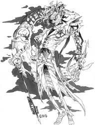 Inktober - Destiny Hero by gmoshiro