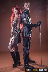 Witcher Lambert with Triss Merigold by MrFifiak