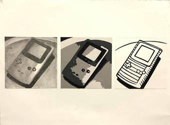 Cut paper: GBC by lexbug11
