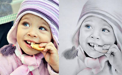 Pencil portrait- Anamaria by dotSingnature