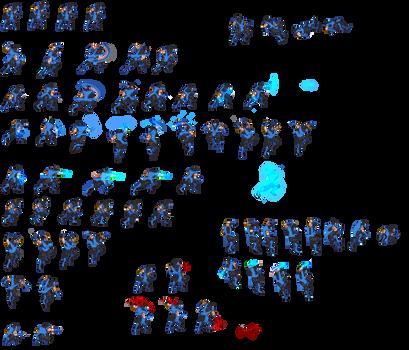 Sub-Zero Sprite Sheet V2 by soldiern