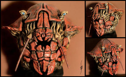 Qaash'Saerakk - Crab mask by Seggos-Artworks