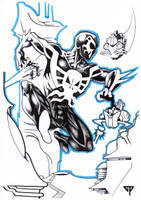Spiderman 2099 for Jerome by guillomcool