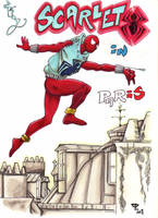 Scarlet Spider in Paris by guillomcool