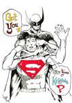 Logan kicking Clark's ass by guillomcool