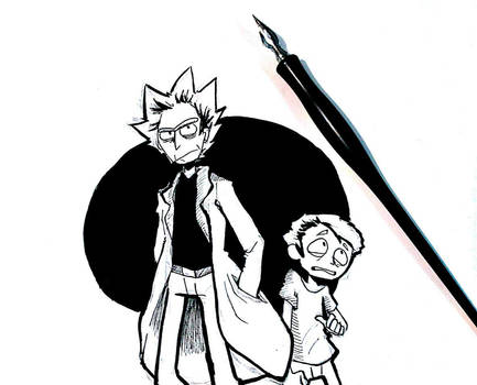 Rick and Morty by Elizabetharte