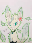 (OC) Emerald the Leafeon by LeFloofyLyeon