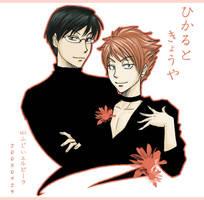 Kyouya and Hikaru by Fiji-Fujii