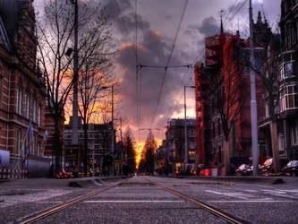 Amsterdam Sunset by AzeemElvehir
