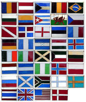 Stained Glass Flags by theancientofdays
