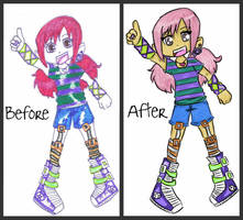 Before and After-Magenta by Glopesfire