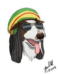 Commission - Rastafarian Dog by Blueoriontiger