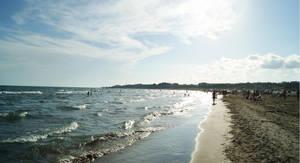 The beach of Vilanova by buligamihai