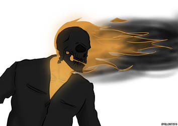 Ghost Rider SOV (rough drawing) by Fiqllency