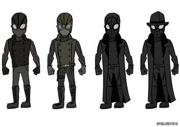 Spiderman Noir (suits) by Fiqllency