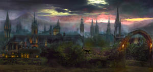 Sunset city by Silberius