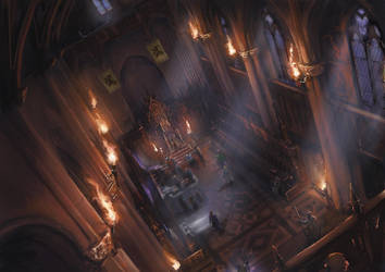 Vampire Dark Ages : Ventrue Throne room by Silberius
