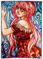 ACEO-Flower dress by atorife