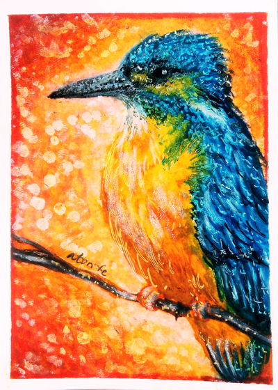 ACEO-Kingfisher by atorife