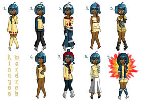 Kinuyo's Outfits by ChocoKoppta