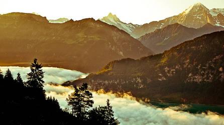 Sunrise in Interlaken by AlphaTroon