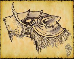 Skaven head by DeadIrishMan