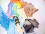 Rainbow Dash Sora Love by RiukaStar