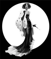 Elegance of Black and White by Zzanthia