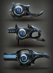 Sci Fi Turbine Weapon Concepts by misi006