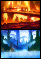 Colorful Landscape Sketches by misi006