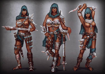 The Three Graces - Character Design by misi006