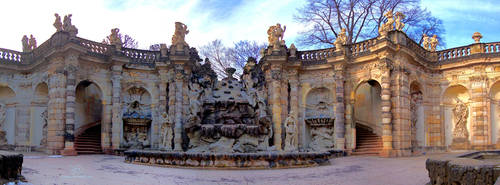 Spa of the nymphs - Zwinger Dresden by Lykorias