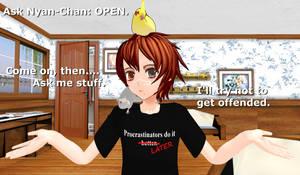 .:MMD:. Ask Nyan-Chan (open) by Miku-Nyan02