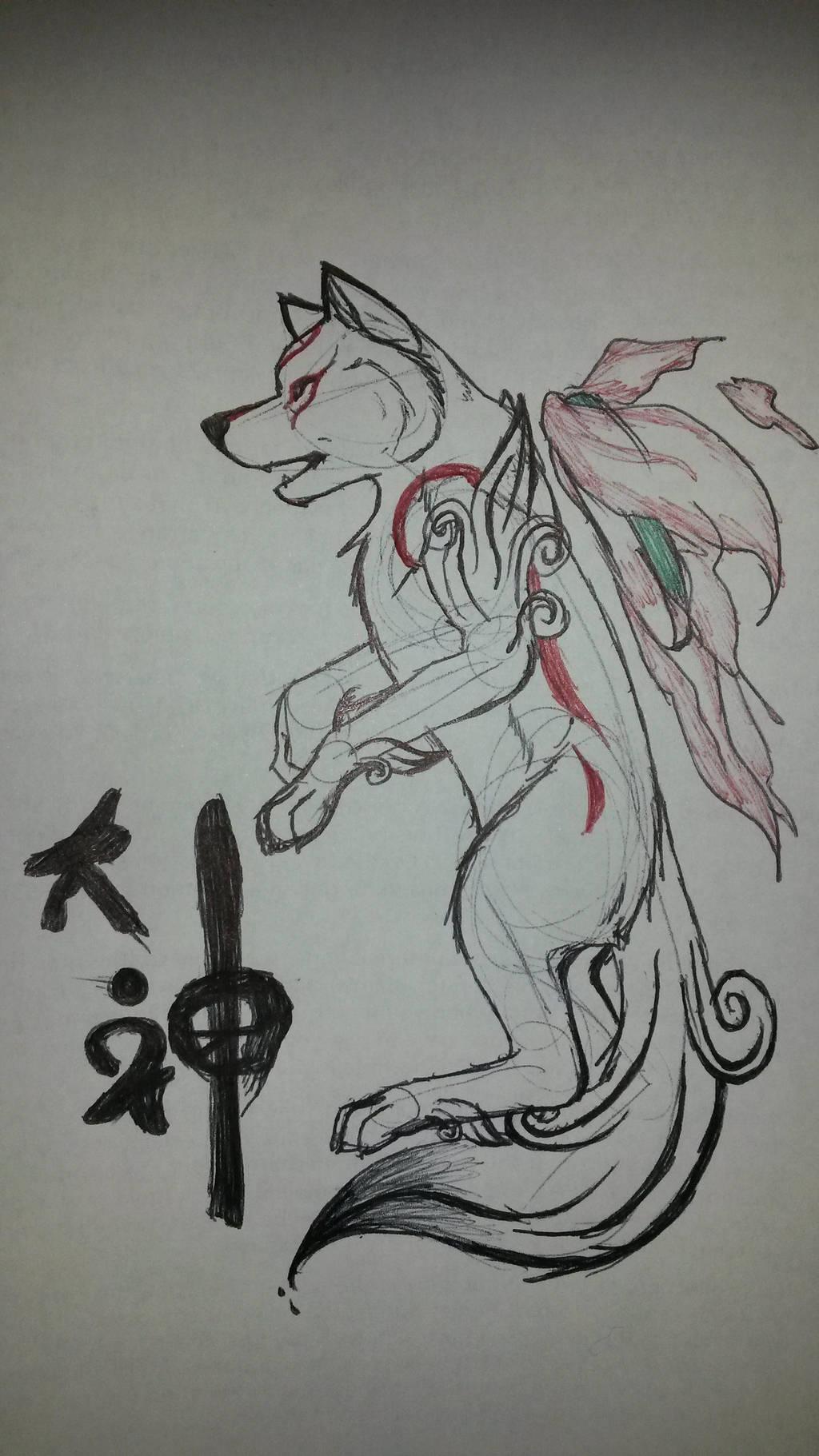 Okami Amaterasu by Miku-Nyan02