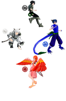 .:MMD+Mythology:. Si Xiang (Four Symbols) by Miku-Nyan02