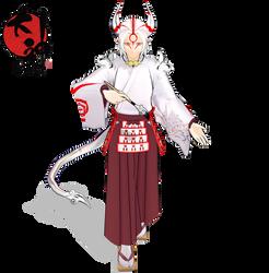.:MMD:. Yomigami [Okami] by Miku-Nyan02