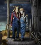 Hillbilly Goats by funkwood