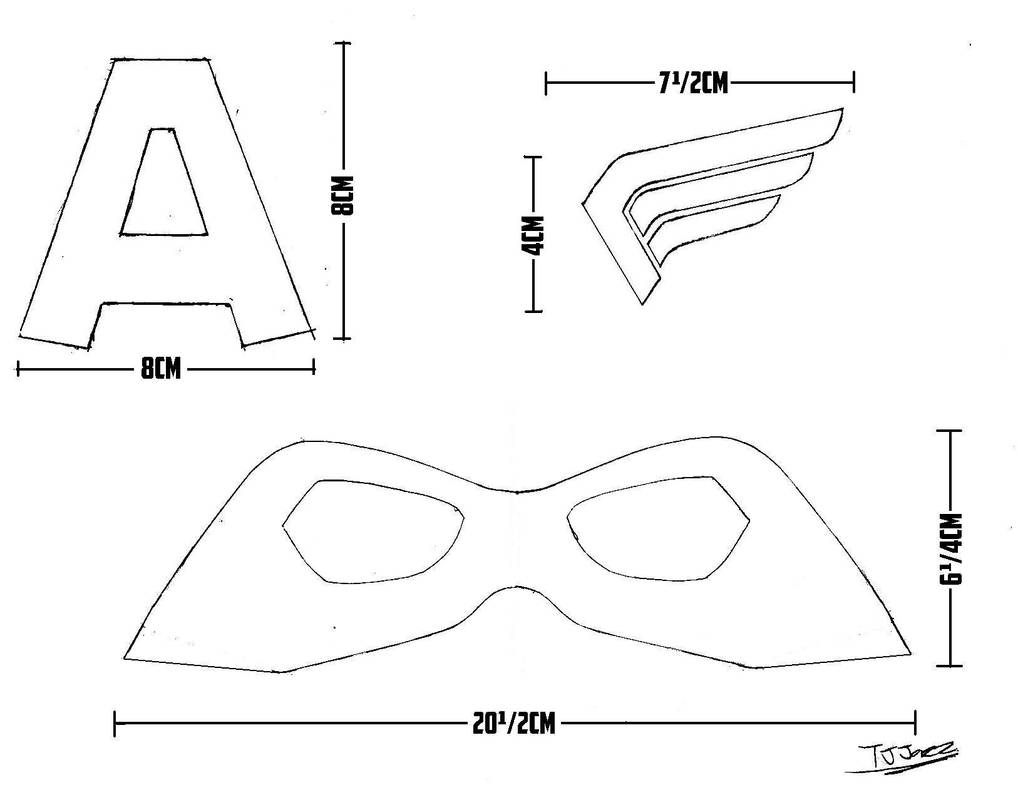 Captain America Helmet Templates Part 2 By Tj Jazz On Deviantart