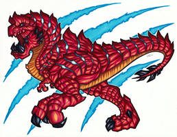 Red Rex - Copics by Jougeroth