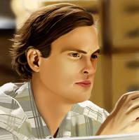 .: Spencer Reid Portrait :. by xGoldenLocks